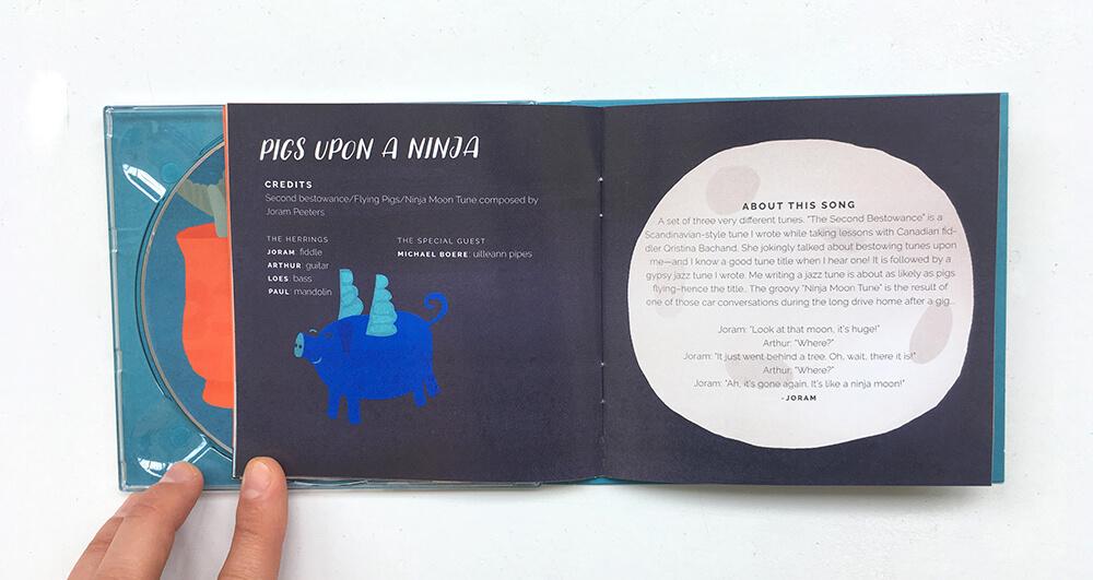 Red Herring Album Music Artwork Cover Design Music Bluegrass Creative Promotional Band Agnes Loonstra Illustration