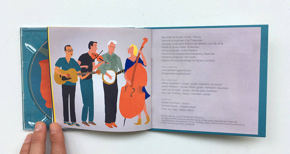 Red Herring Album Music Artwork Cover Design Music Bluegrass Creative Promotional Band Agnes Loonstra Illustration