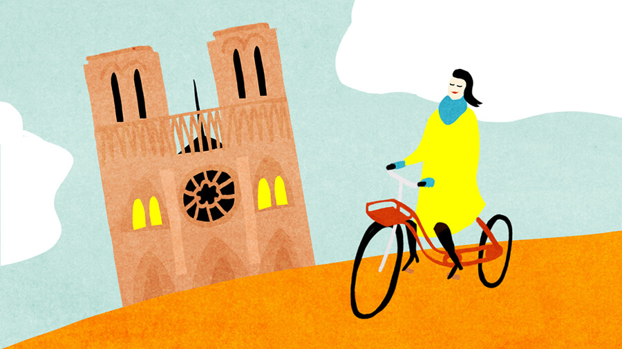 VanMoof Blog illustration bikes paris new york international illustration Agnes Loonstra